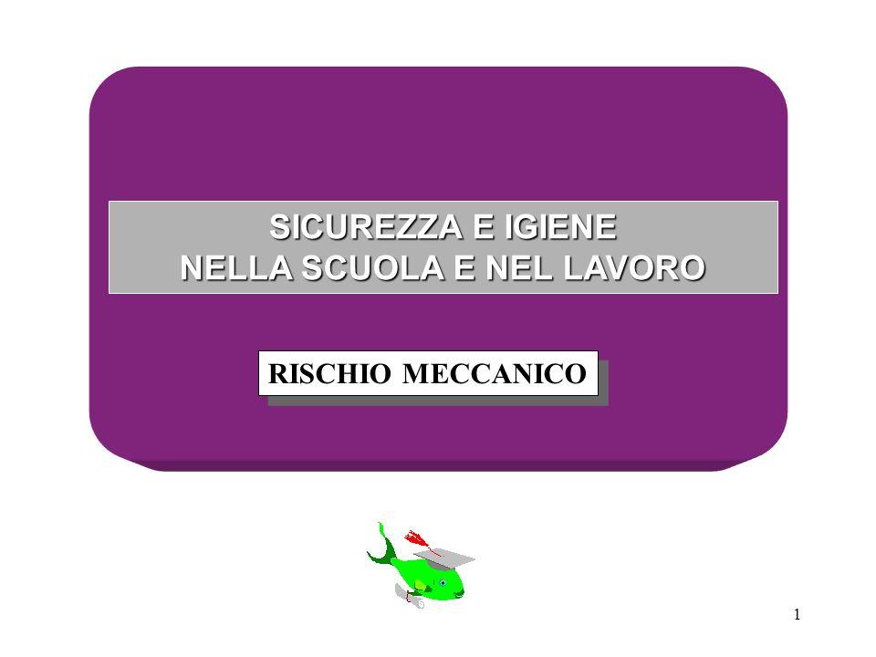 1 SICUREZZA E IGIENE NELLA SCUOLA E NEL LAVORO RISCHIO MECCANICO