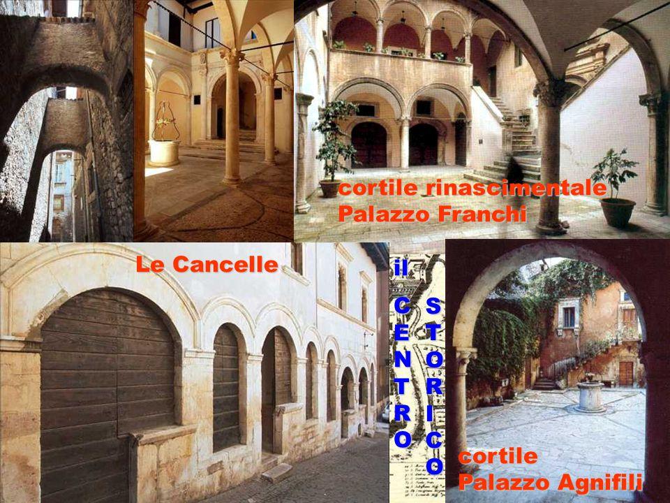 cortile Palazzo Agnifili cortile rinascimentale Palazzo Franchi Le Cancelle STORICO ilCENTRO
