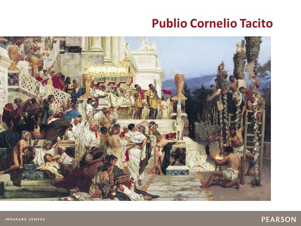 2 - Tacito La vita I personaggi I luoghi Le opere I generi Gli aspetti chiave Lo stile I testi Moralismo e pessimismo sono i caratteri salienti delle opere di Tacito, scritte con uno stile vigoroso e originale