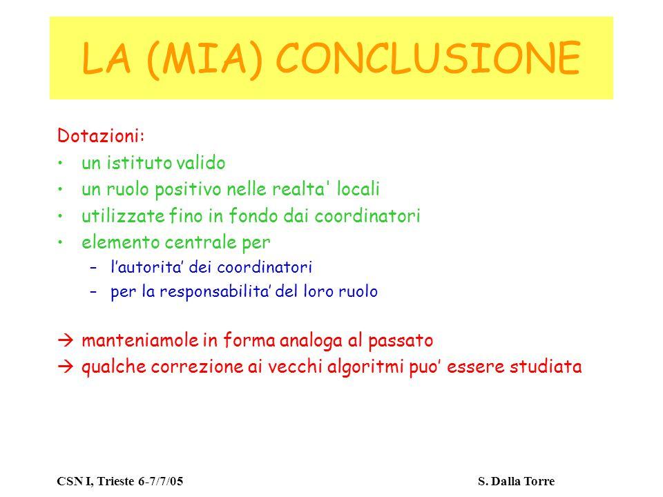 CSN I, Trieste 6-7/7/05 S.