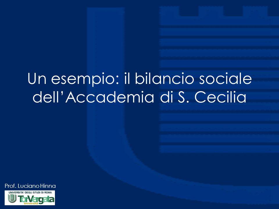 Prof. Luciano Hinna Un esempio: il bilancio sociale dell'Accademia di S. Cecilia