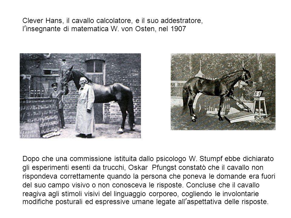 Clever Hans, il cavallo calcolatore, e il suo addestratore, l'insegnante di matematica W.