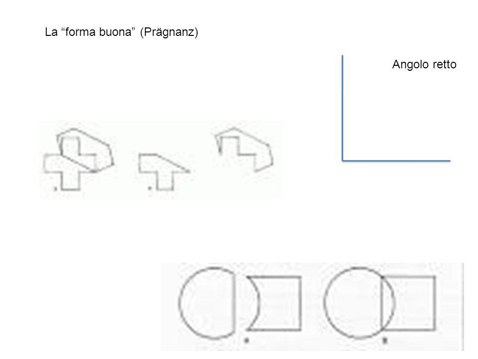 La forma buona (Prägnanz) Angolo retto