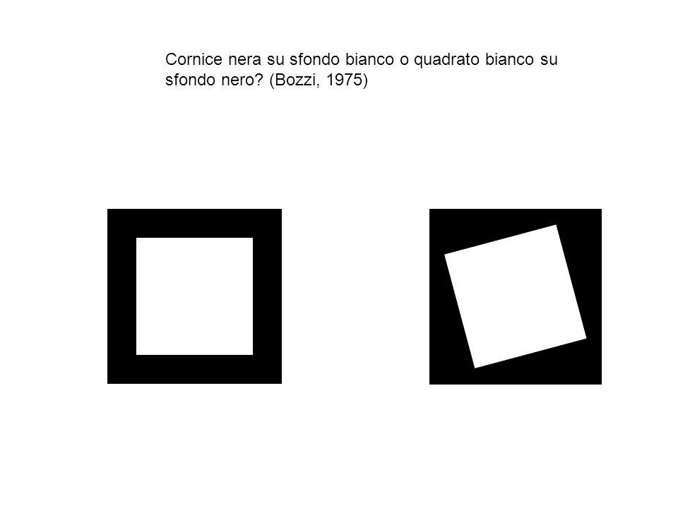 Cornice nera su sfondo bianco o quadrato bianco su sfondo nero? (Bozzi, 1975)