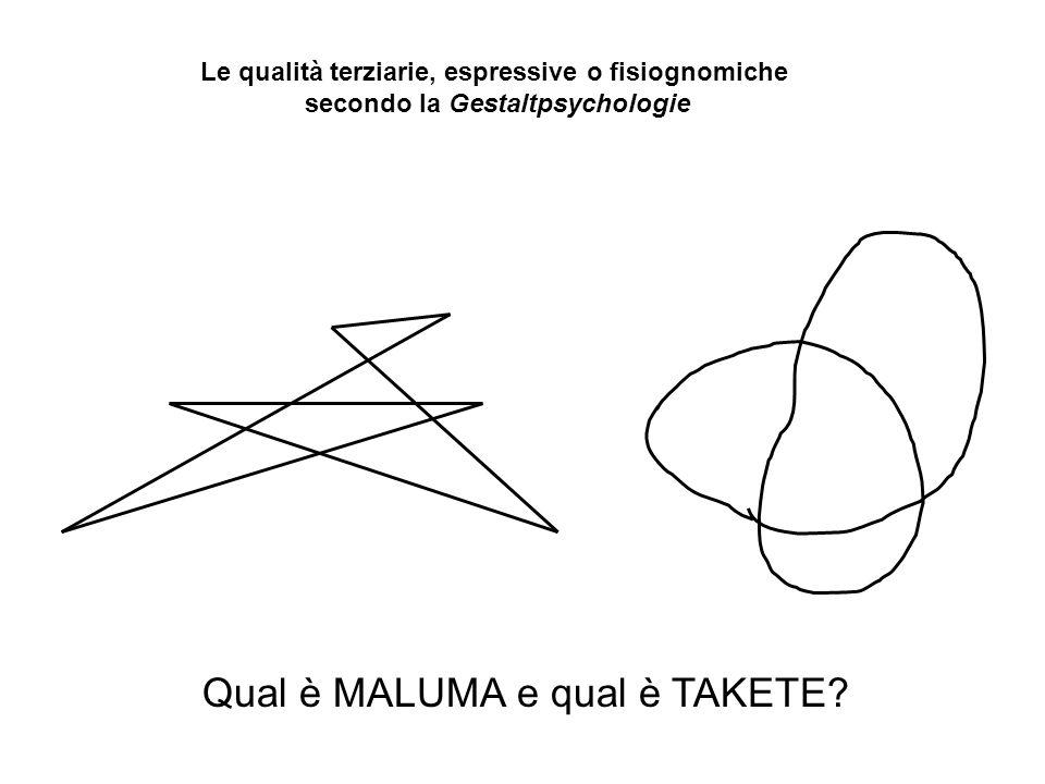 Qual è MALUMA e qual è TAKETE.
