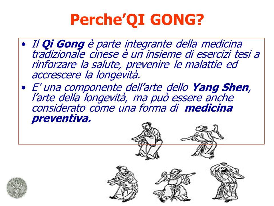 Il Qi Gong è parte integrante della medicina tradizionale cinese è un insieme di esercizi tesi a rinforzare la salute, prevenire le malattie ed accrescere la longevità.