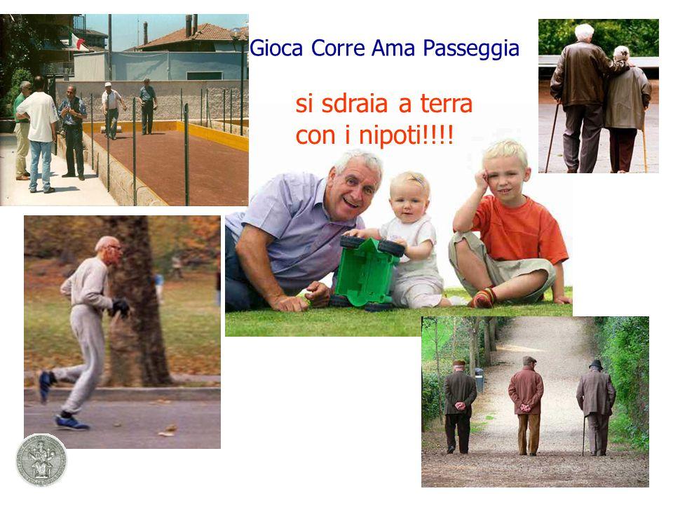 Gioca Corre Ama Passeggia si sdraia a terra con i nipoti!!!!