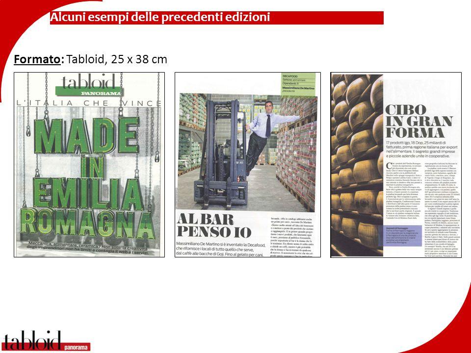Formato: Tabloid, 25 x 38 cm Alcuni esempi delle precedenti edizioni