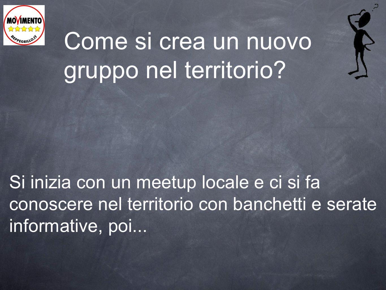 Come si crea un nuovo gruppo nel territorio? Si inizia con un meetup locale e ci si fa conoscere nel territorio con banchetti e serate informative, po