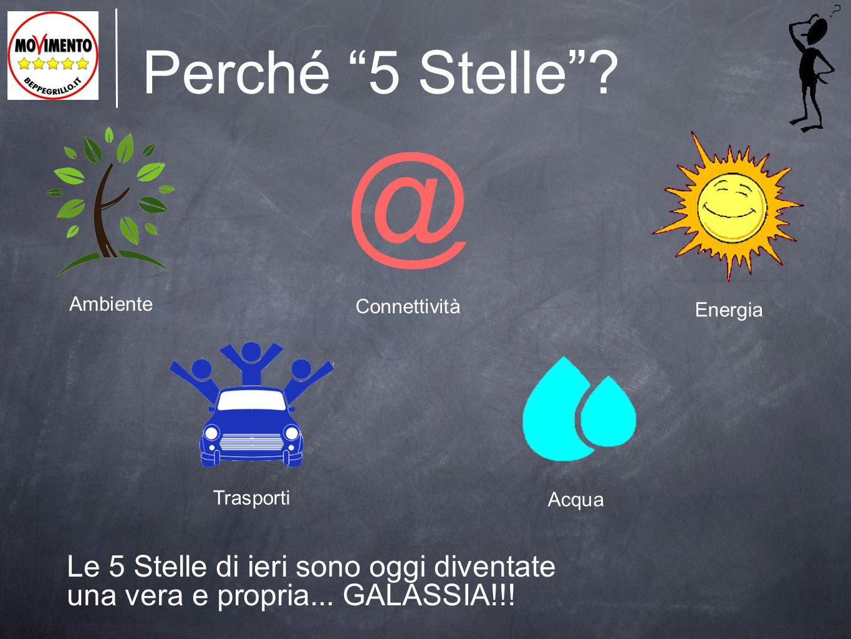 """Perché """"5 Stelle""""? Le 5 Stelle di ieri sono oggi diventate una vera e propria... GALASSIA!!! Ambiente @ Connettività Energia Trasporti Acqua"""