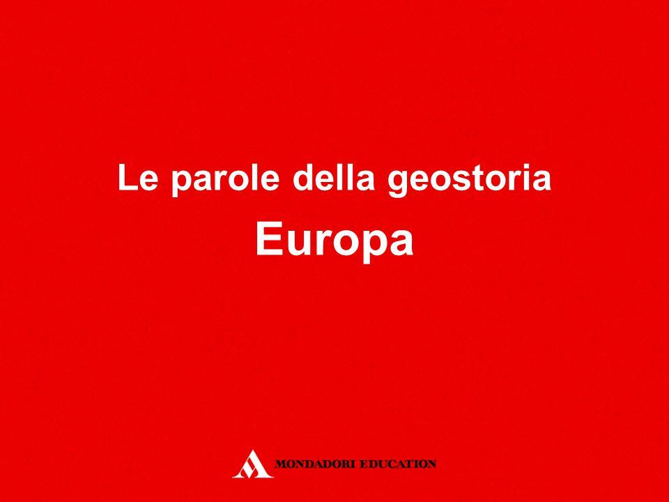 Le parole della geostoria Europa