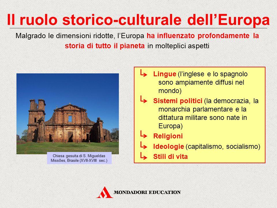 Il ruolo storico-culturale dell'Europa Malgrado le dimensioni ridotte, l'Europa ha influenzato profondamente la storia di tutto il pianeta in molteplici aspetti Chiesa gesuita di S.