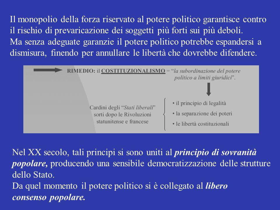 Definizione di STATO: particolare forma di organizzazione del potere politico che esercita il monopolio della forza legittimata, in un dato territorio, su una data popolazione e attraverso un apparato amministrativo.