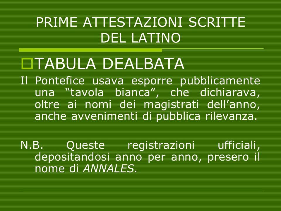 """PRIME ATTESTAZIONI SCRITTE DEL LATINO  TABULA DEALBATA Il Pontefice usava esporre pubblicamente una """"tavola bianca"""", che dichiarava, oltre ai nomi de"""