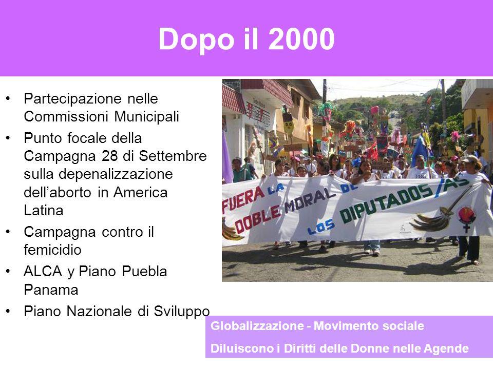 Dopo il 2000 Partecipazione nelle Commissioni Municipali Punto focale della Campagna 28 di Settembre sulla depenalizzazione dell'aborto in America Lat