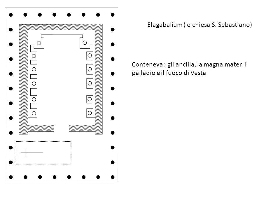Elagabalium ( e chiesa S. Sebastiano) Conteneva : gli ancilia, la magna mater, il palladio e il fuoco di Vesta