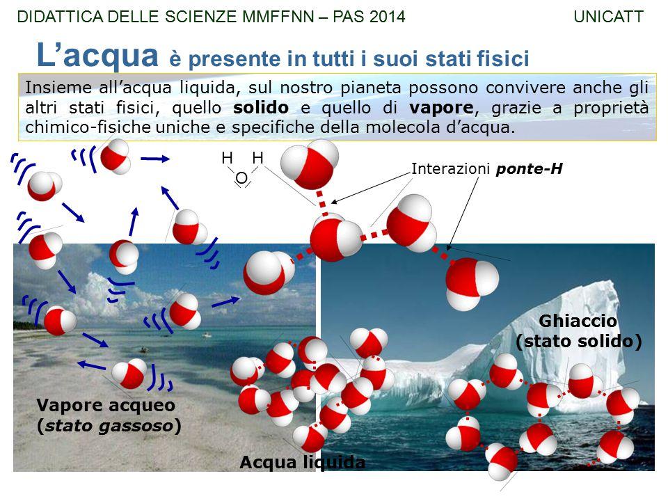 Insieme all'acqua liquida, sul nostro pianeta possono convivere anche gli altri stati fisici, quello solido e quello di vapore, grazie a proprietà chi