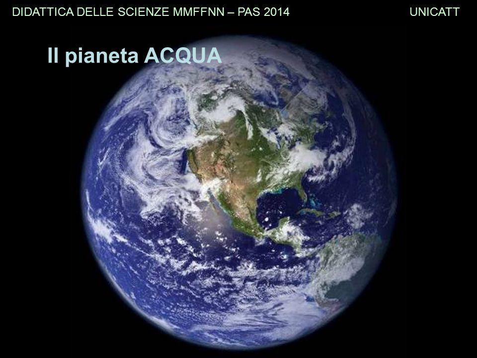 Il pianeta ACQUA DIDATTICA DELLE SCIENZE MMFFNN – PAS 2014 UNICATT