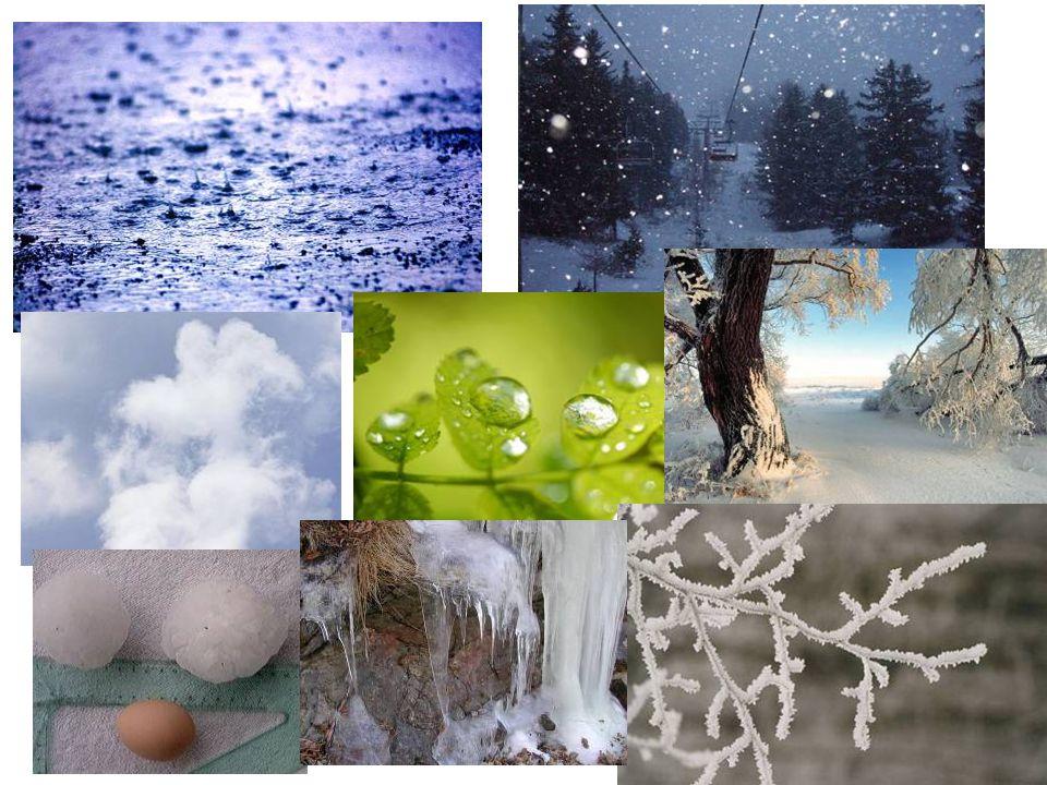 La quantità di ENERGIA proveniente dal SOLE Genera i passaggi di stato dell'acqua e le sue note manifestazioni naturali: ► provoca l'evaporazione (da liquido a vapore); ► induce la solidificazione con la formazione del ghiaccio e della neve; ► la fusione da solido a liquido o la sublimazione da solido a gassoso; ► determina il passaggio di condensazione da vapore a liquido (rugiada) e quello da vapore a ghiaccio (brina) Produce nei vegetali il fenomeno della evapotraspirazione e dell'assorbimento radicale di acqua.