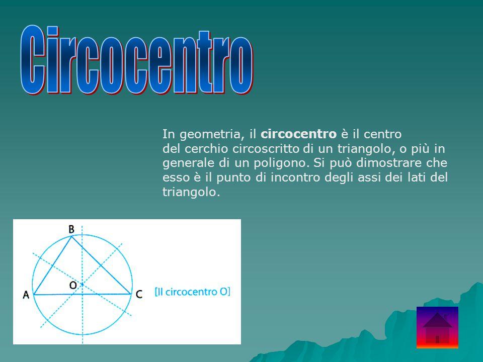 In geometria, il circocentro è il centro del cerchio circoscritto di un triangolo, o più in generale di un poligono. Si può dimostrare che esso è il p