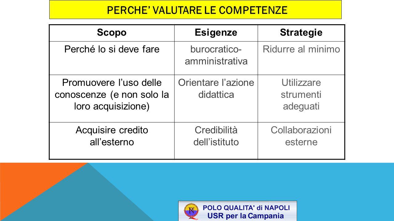 Proponiamo le seguenti linee guida: 1.costruzione di un quadro di riferimento teorico-operativo delle competenze a livello di singolo istituto (a partire dal PECUP); 2.