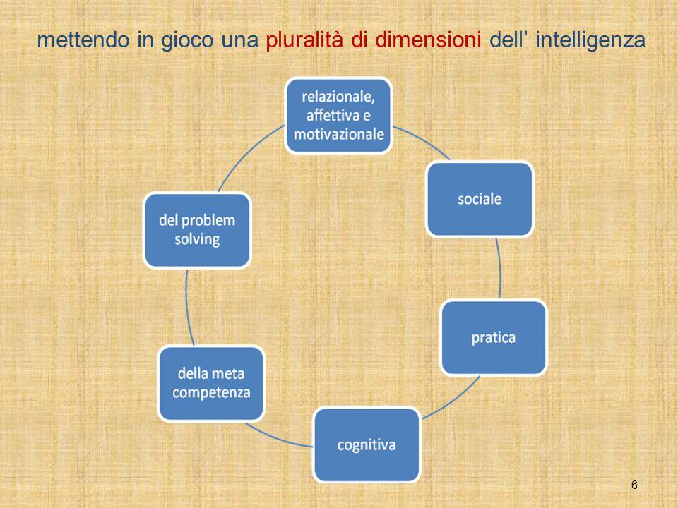 6 mettendo in gioco una pluralità di dimensioni dell' intelligenza