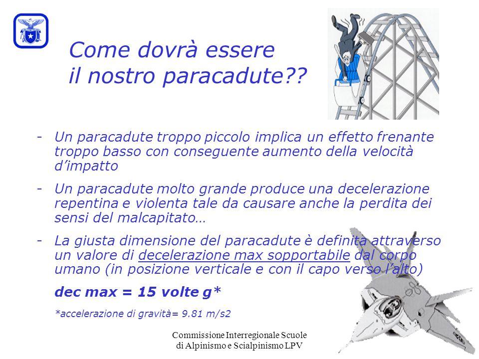Commissione Interregionale Scuole di Alpinismo e Scialpinismo LPV Come dovrà essere il nostro paracadute?.