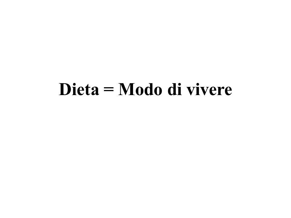 Dieta = Modo di vivere