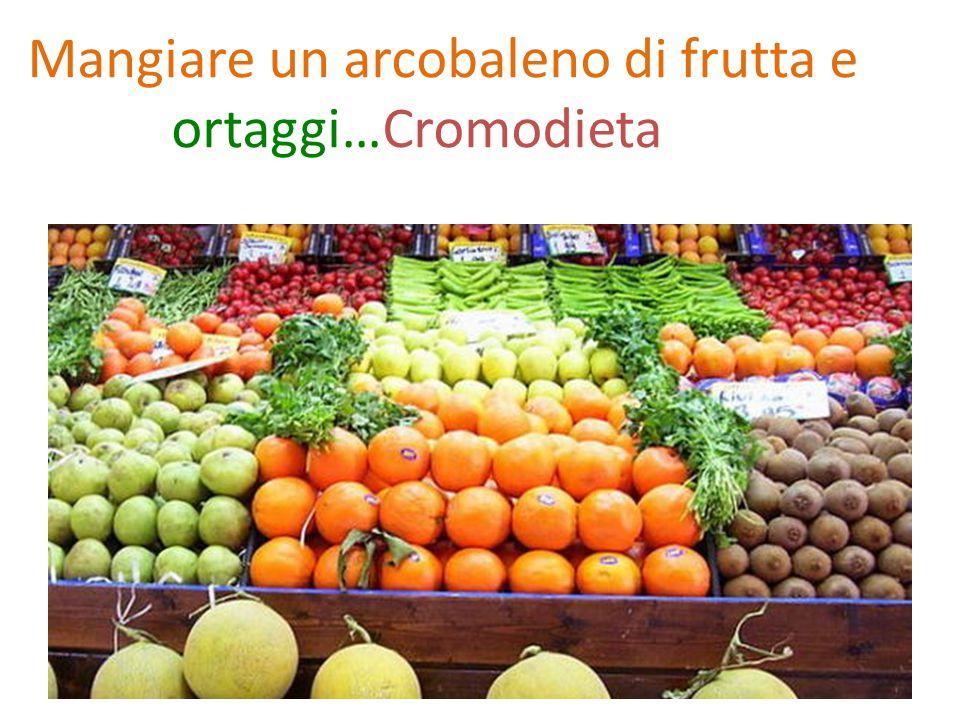 Mangiare un arcobaleno di frutta e ortaggi…Cromodieta