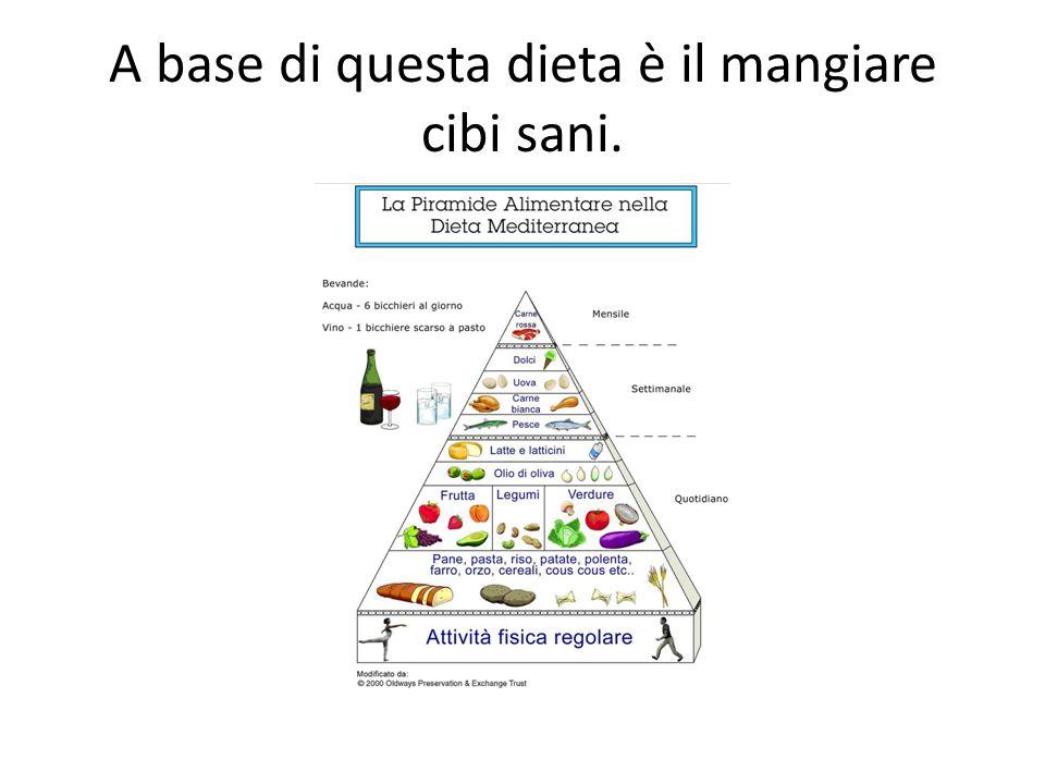 E suggerito mangiare…prodotti locali e stagionali dei 5-6 gruppi… in moderazione.