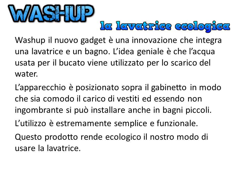 Washup il nuovo gadget è una innovazione che integra una lavatrice e un bagno.