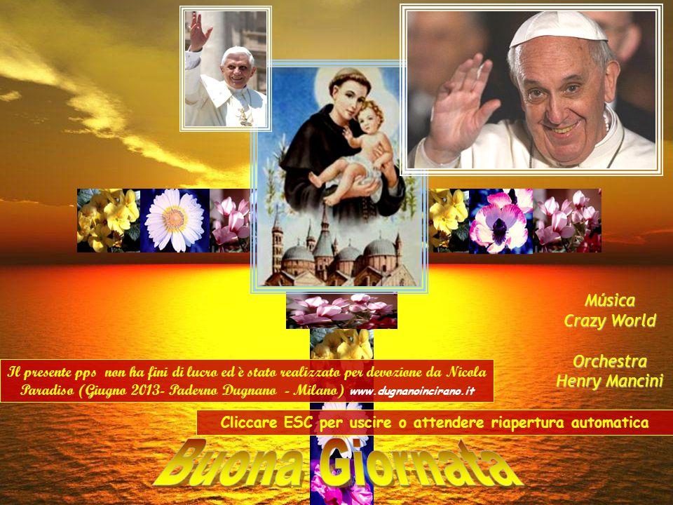 """Tratto dal libro """"Prega e sarai felice"""" Arciprete della Basilica di S. Pietro, Vicario dello Stato Città del Vaticano e Presidente Fabbrica di S. Piet"""
