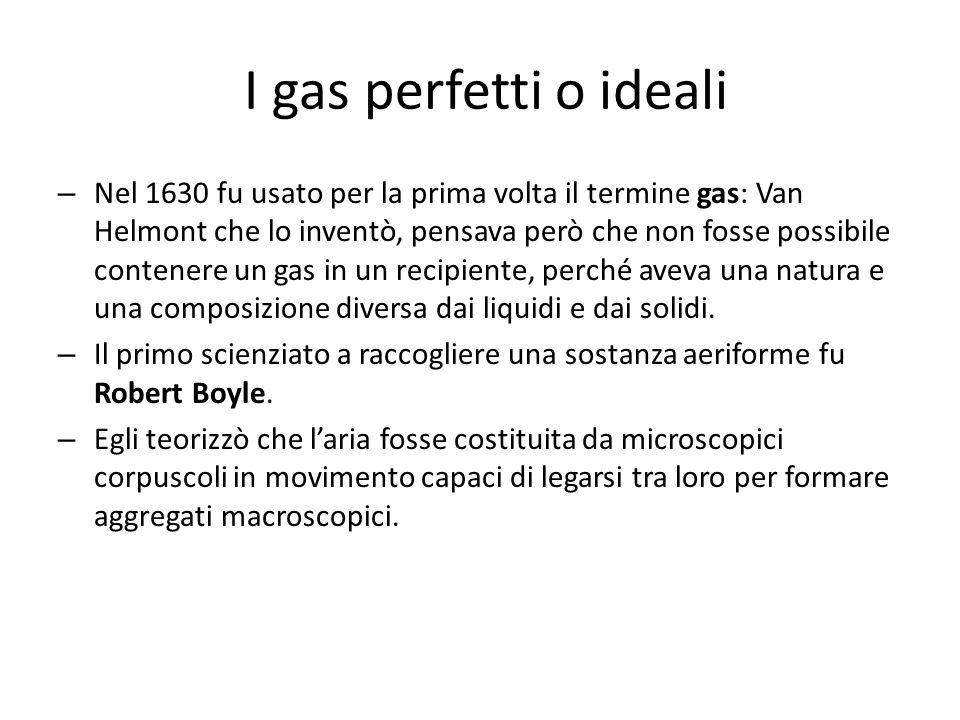 – Nel 1630 fu usato per la prima volta il termine gas: Van Helmont che lo inventò, pensava però che non fosse possibile contenere un gas in un recipie