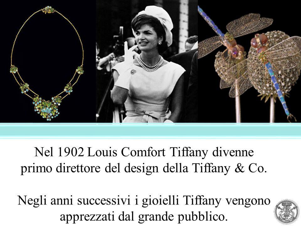 Nel 1902 Louis Comfort Tiffany divenne primo direttore del design della Tiffany & Co. Negli anni successivi i gioielli Tiffany vengono apprezzati dal