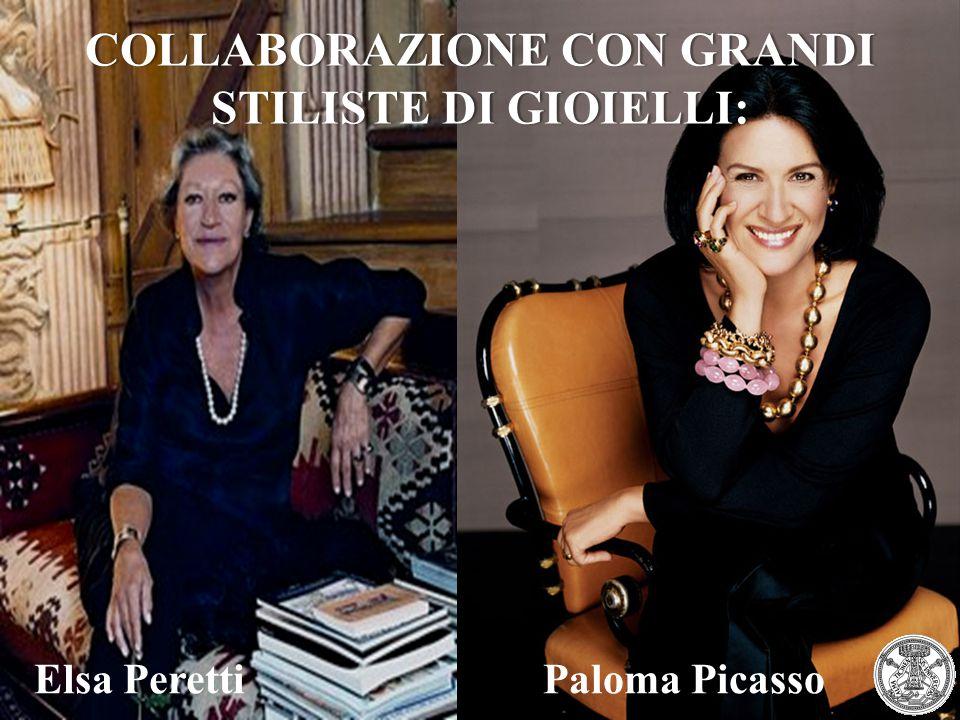 Elsa PerettiPaloma Picasso COLLABORAZIONE CON GRANDI STILISTE DI GIOIELLI:
