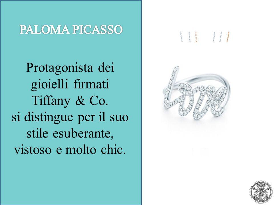 Protagonista dei gioielli firmati Tiffany & Co. si distingue per il suo stile esuberante, vistoso e molto chic.