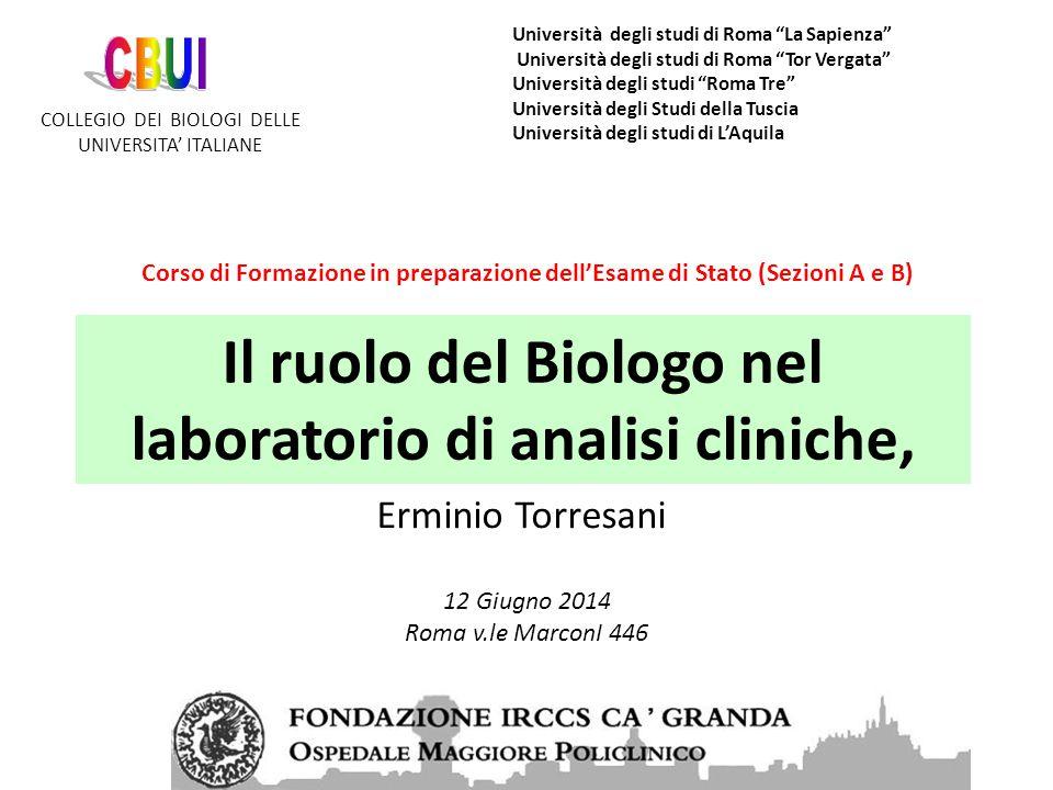 BIOLOGI Roma 12 giugno 2014