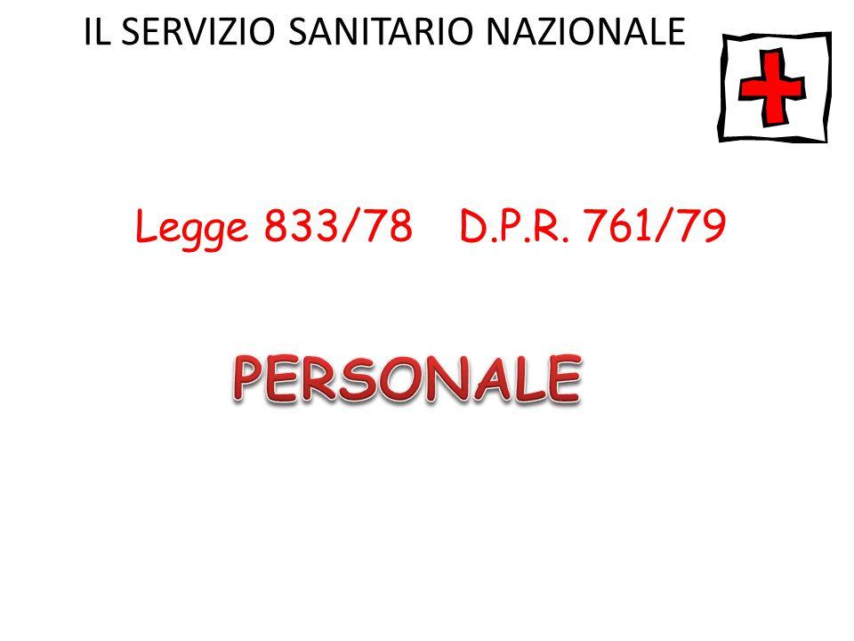 Legge 833/78 D.P.R. 761/79 IL SERVIZIO SANITARIO NAZIONALE