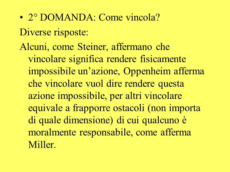 2° DOMANDA: Come vincola.