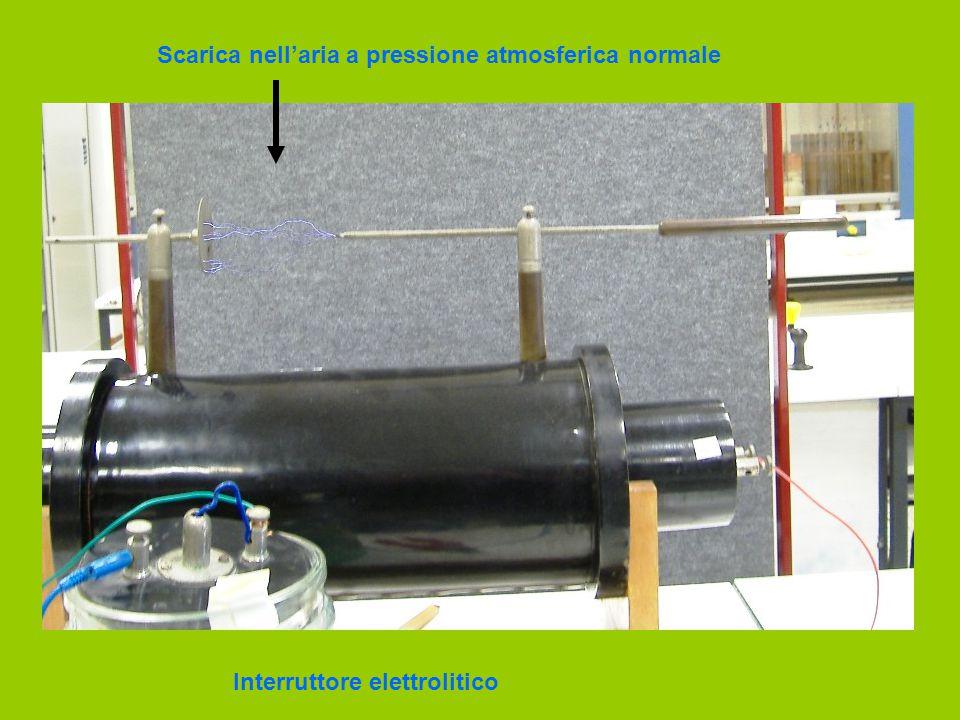 Scarica nell'aria a pressione atmosferica normale Interruttore elettrolitico
