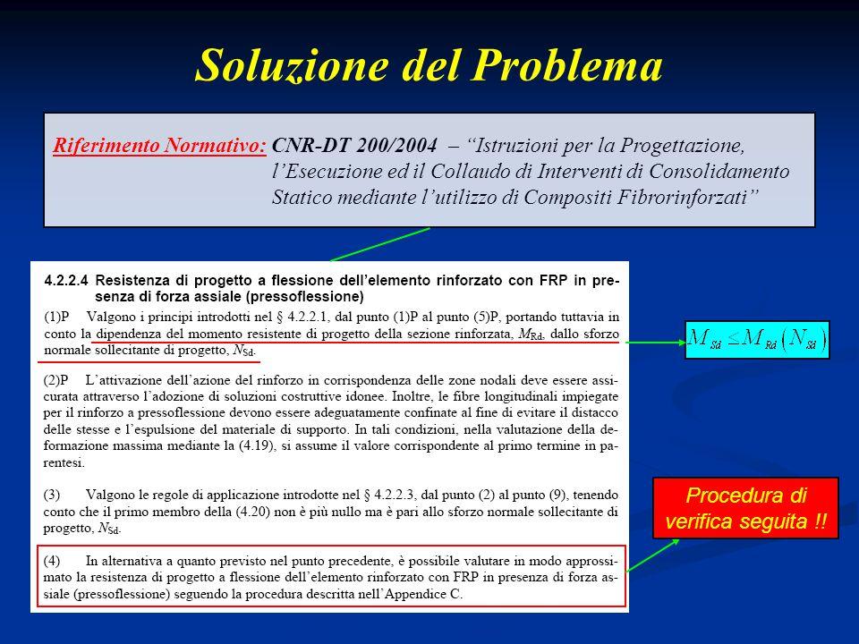 """Soluzione del Problema Riferimento Normativo: CNR-DT 200/2004 – """"Istruzioni per la Progettazione, l'Esecuzione ed il Collaudo di Interventi di Consoli"""