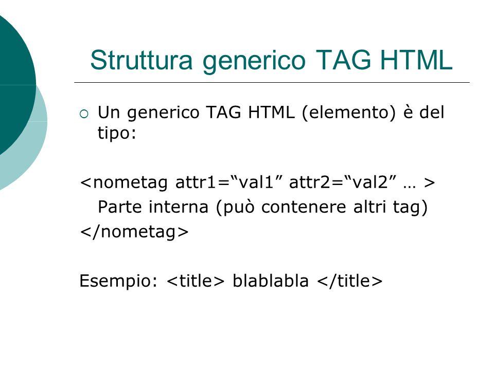 Elenchi  L'HTML permette di rappresentare dati sotto forma di elenco.