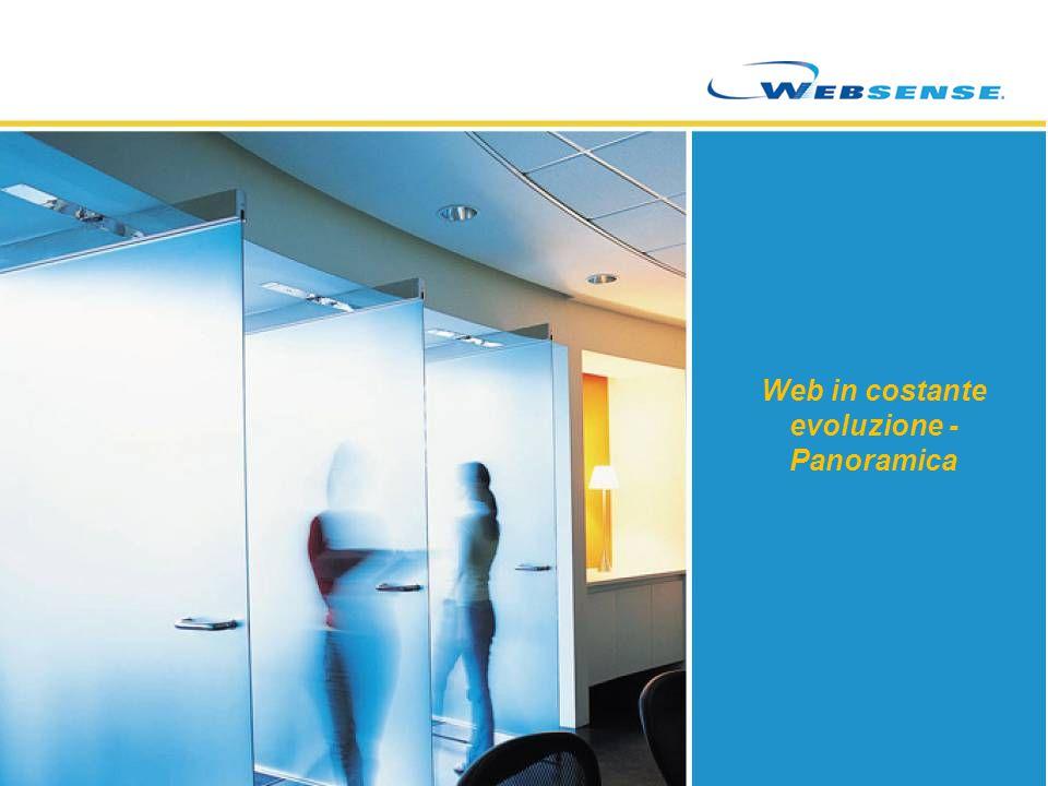 Database di URL e sicurezza Espansione della ThreatSeeker Network Websense Security Labs ThreatSeeker ® TECHNOLOGY ThreatSeeker ® TECHNOLOGY Rilevamento/ispezioni minacce Analisi/feedback condivisi Aggiornamenti della sicurezza in tempo reale Sicurezza hosted Websense ThreatSeeker ® TECHNOLOGY WEBSENSE Web Security Gateway WEBSENSE Web Security Gateway Cliente di Websense Clienti hosted di Websense Oltre 40 milioni di siti all ora Oltre 40 milioni di siti all ora Oltre 10 milioni di email all ora Oltre 10 milioni di email all ora 1 miliardo di frammenti di contenuti al giorno