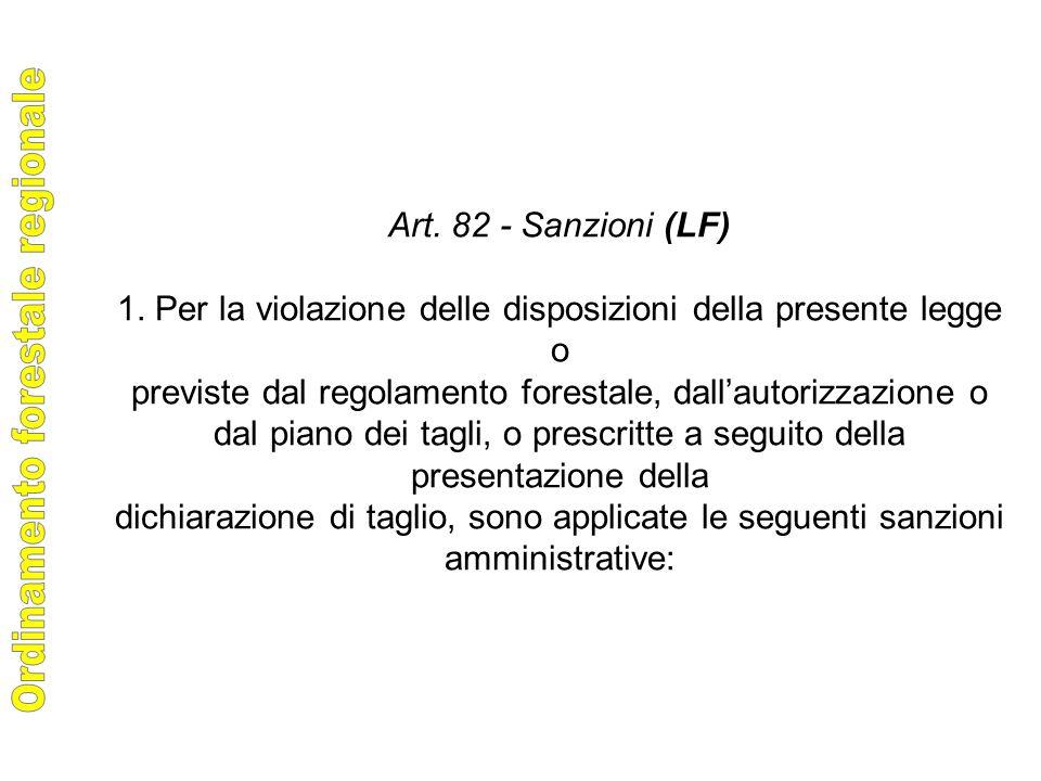 Art. 82 - Sanzioni (LF) 1.
