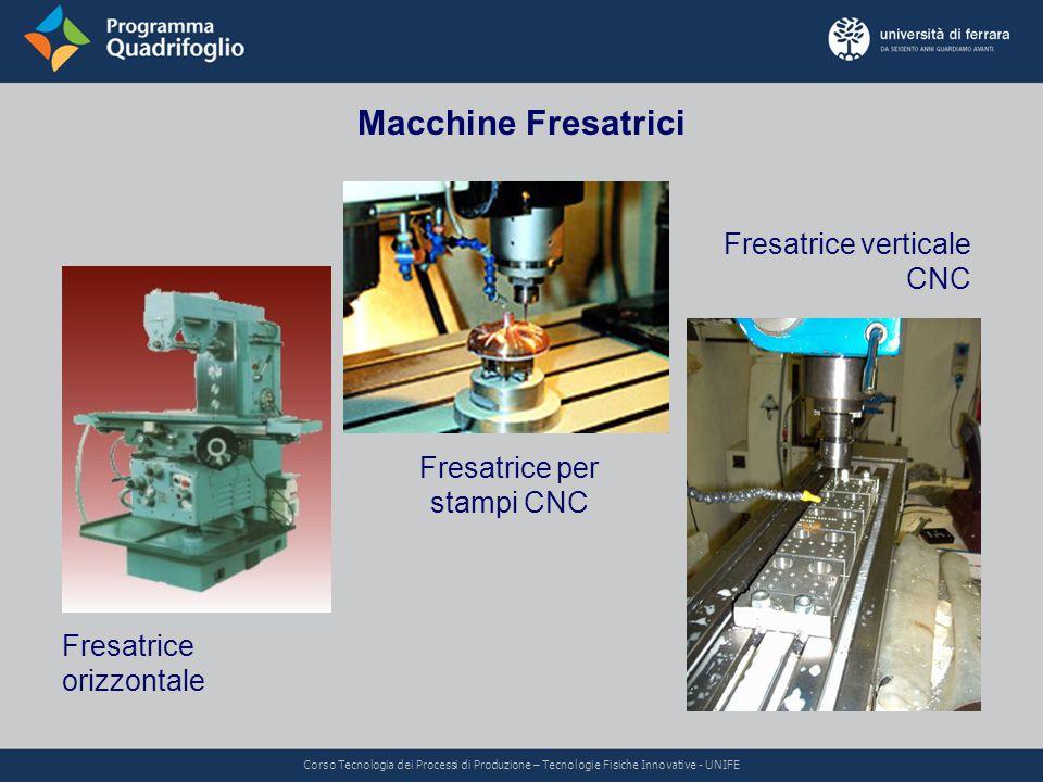Macchine Fresatrici Fresatrice orizzontale Fresatrice verticale CNC Fresatrice per stampi CNC Corso Tecnologia dei Processi di Produzione – Tecnologie