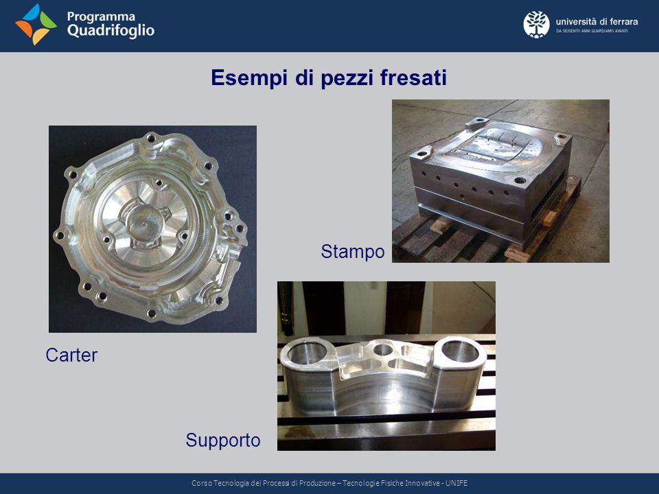 Esempi di pezzi fresati Carter Stampo Supporto Corso Tecnologia dei Processi di Produzione – Tecnologie Fisiche Innovative - UNIFE