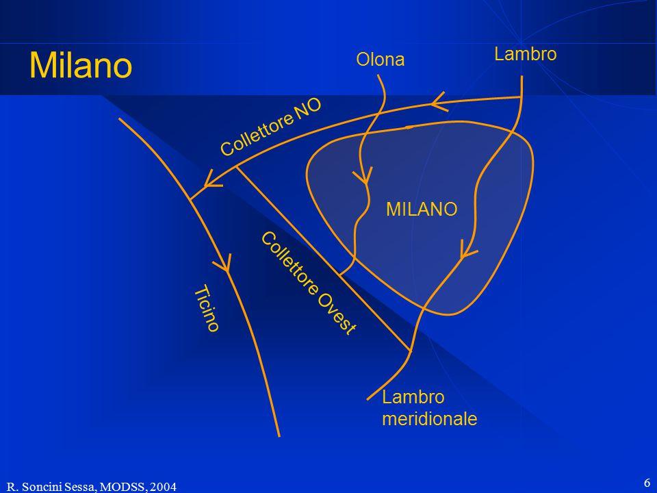 R. Soncini Sessa, MODSS, 2004 6 Milano Ticino Collettore NO Collettore Ovest Olona Lambro MILANO Lambro meridionale