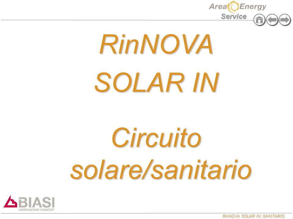 RinNOVA SOLAR IN: SANITARIO Service RinNOVA SOLAR IN Circuito solare/sanitario