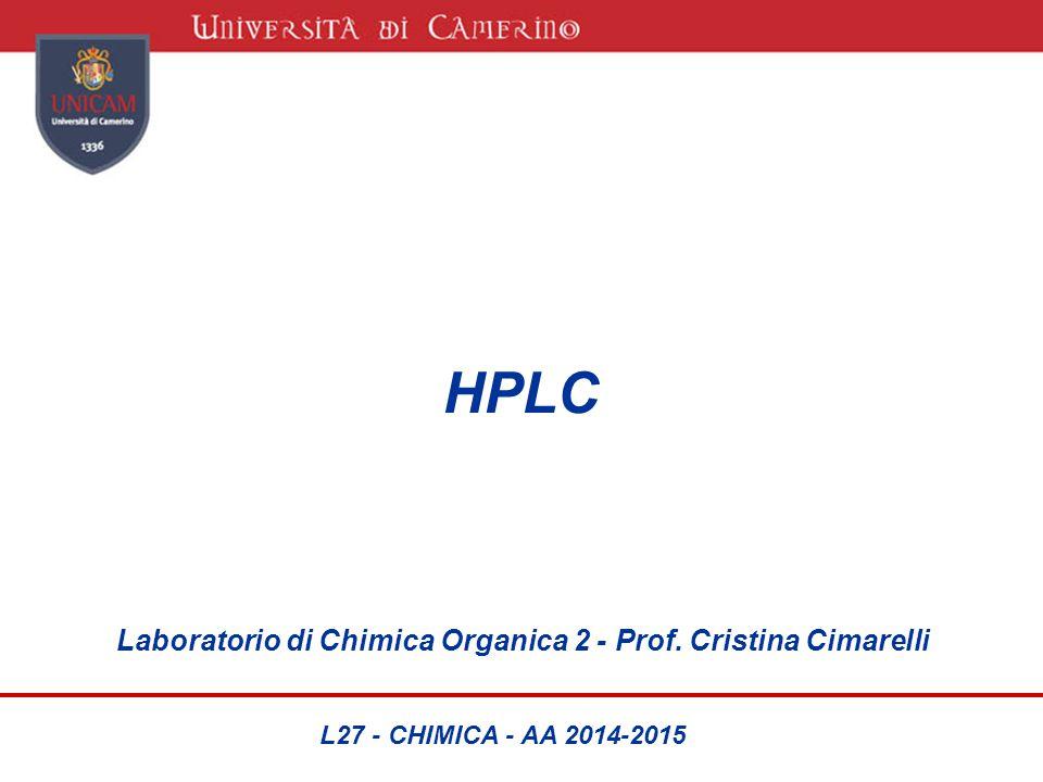 HPLC Laboratorio di Chimica Organica 2 - Prof. Cristina Cimarelli L27 - CHIMICA - AA 2014-2015