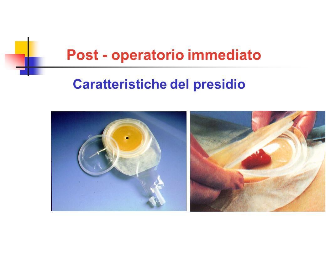 Post - operatorio immediato Caratteristiche del presidio 1 pezzo con oblò 2 pezzi (soffietto)